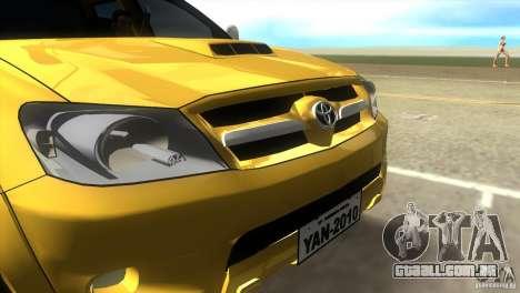 Toyota Hilux SRV 4x4 para GTA Vice City vista direita