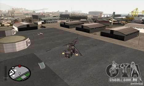 MI-8 Camo cinza para GTA San Andreas traseira esquerda vista
