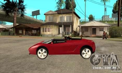 Lamborghini Concept S para GTA San Andreas esquerda vista