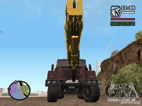 KrAZ-250 MKAT-40 para GTA San Andreas vista direita