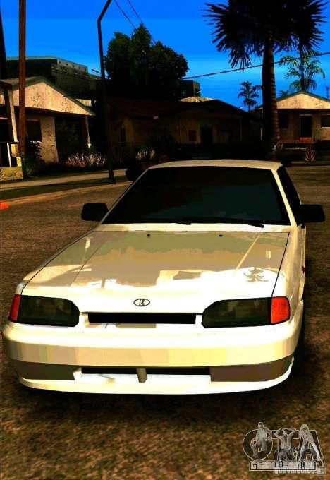 VAZ 2115 para GTA San Andreas vista traseira