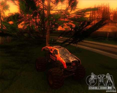 Monster Truck Maximum Destruction para GTA San Andreas traseira esquerda vista