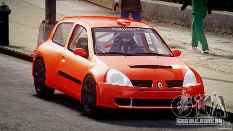 Renault Clio Sport para GTA 4 vista de volta