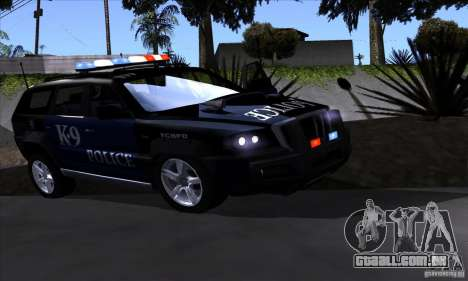 NFS Undercover Police SUV para GTA San Andreas esquerda vista