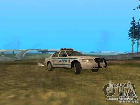 Ford Crown Victoria NYPD Police para GTA San Andreas traseira esquerda vista