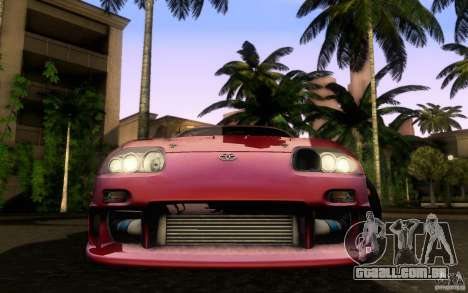 Toyota Supra Top Secret para GTA San Andreas vista direita