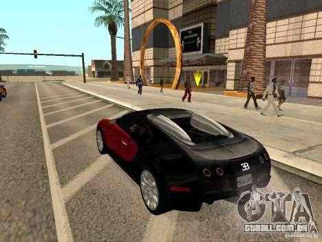 Bugatti Veyron para GTA San Andreas esquerda vista