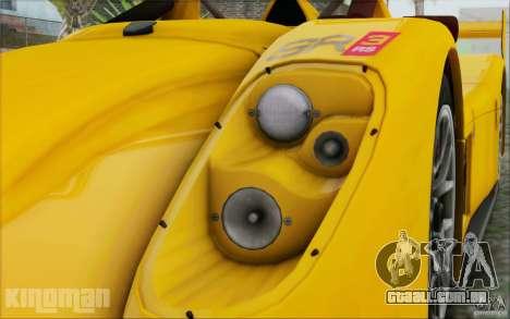 Radical SR3 RS 2009 para GTA San Andreas vista direita
