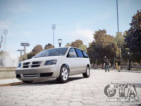 Dodge Grand Caravan SXT 2008 para GTA 4 vista interior