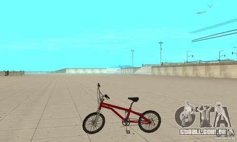 SA BMX para GTA San Andreas esquerda vista