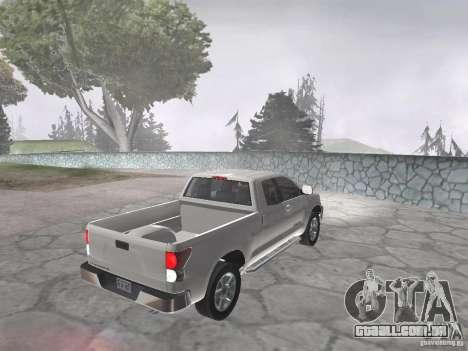 Toyota Tundra para GTA San Andreas traseira esquerda vista