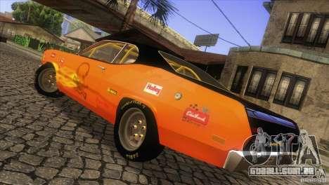Plymouth Duster 440 para vista lateral GTA San Andreas