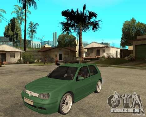 Volkswagen Golf IV GTI para GTA San Andreas