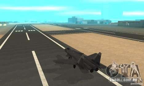 Su-47 berkut Defolt para GTA San Andreas traseira esquerda vista