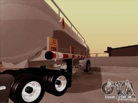 Reboque Kenworth T2000 para GTA San Andreas vista traseira