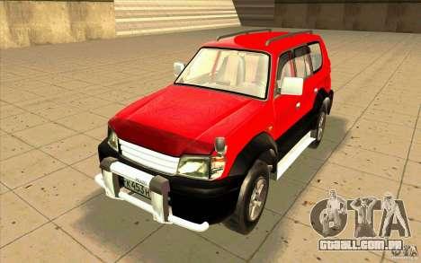 Toyota Land Cruiser Prado para GTA San Andreas esquerda vista