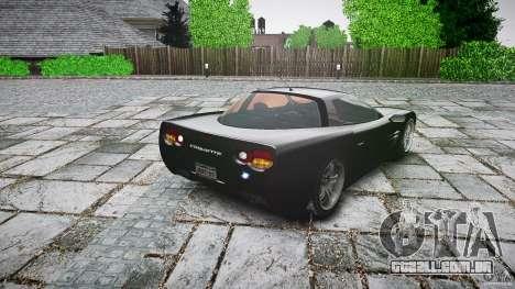 Coquette FBI car para GTA 4 traseira esquerda vista