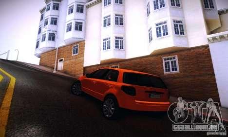 Suzuki SX4 Sportback Black 2011 para GTA San Andreas esquerda vista