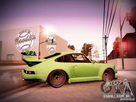 Porsche 911 Turbo RWB Pandora One para GTA San Andreas vista traseira