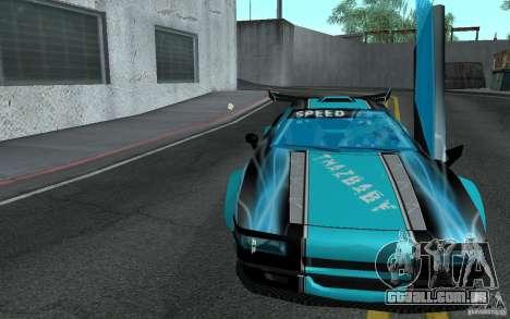 Baby blue Infernus para GTA San Andreas vista traseira