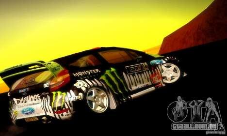 Ford Fiesta Gymkhana 4 para GTA San Andreas vista direita