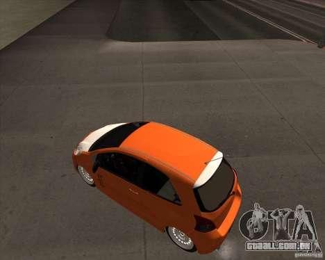 Toyota Yaris II Pac performance para GTA San Andreas traseira esquerda vista