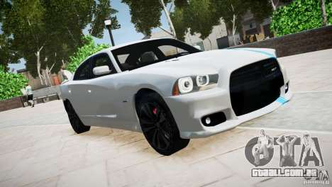 Dodge Charger SRT8 2012 para GTA 4 vista interior