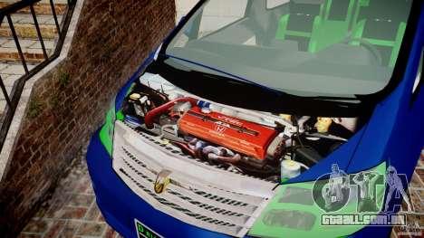 Toyota Alphard 2007 para GTA 4 vista interior