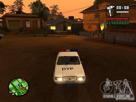 DYP 2107 police para GTA San Andreas esquerda vista