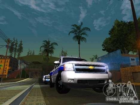 Chevrolet Silverado Rockland Police Department para GTA San Andreas vista traseira