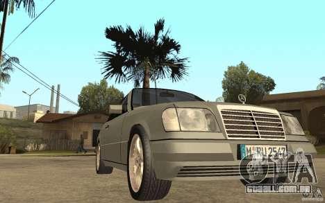 Mercedes-Benz E320 C124 Cabrio para GTA San Andreas vista traseira