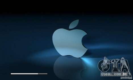 A tela de inicialização de Apple para GTA San Andreas por diante tela