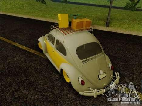 Volkswagen Beetle Edit para GTA San Andreas vista direita