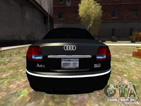 Audi A8L W12 para GTA 4 vista direita