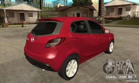 Mazda 2 2011 para GTA San Andreas vista direita