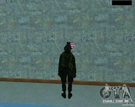 O terceiro soldado da pele Cod MW 2 para GTA San Andreas terceira tela