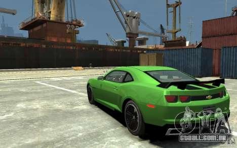 Chevrolet Camaro 2010 Synergy Edition v1.3 para GTA 4 traseira esquerda vista