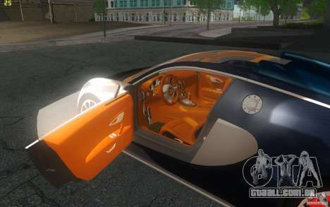Bugatti Veyron 16.4 Grand Sport Sang Bleu para GTA San Andreas vista traseira