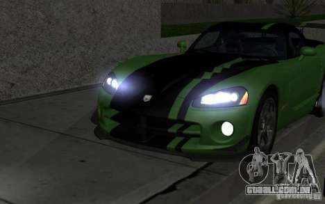 Dodge Viper um pequeno ajuste para GTA San Andreas vista traseira