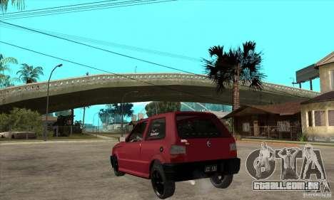 Fiat Uno Fire para GTA San Andreas traseira esquerda vista