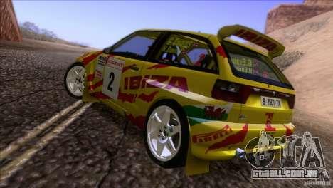 Seat Ibiza Rally para GTA San Andreas vista inferior