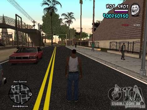 HUD by Hot Shot para GTA San Andreas segunda tela