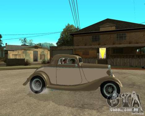 Ford 1934 Coupe v2 para GTA San Andreas vista direita