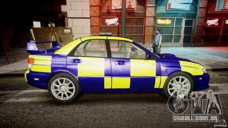Subaru Impreza WRX Police [ELS] para GTA 4 vista interior