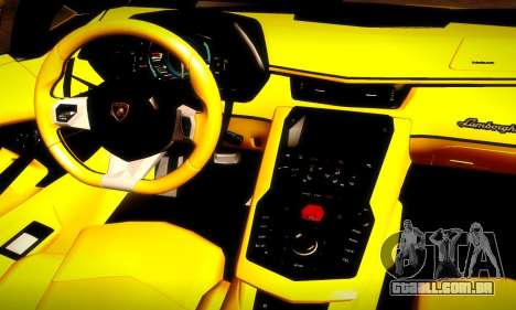 Lamborghini Aventador LP 700-4 para GTA San Andreas vista superior