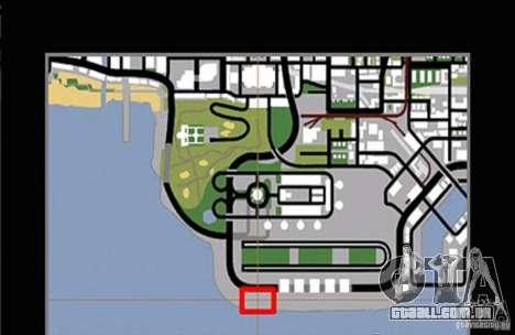 Nova faixa para drifting para GTA San Andreas por diante tela
