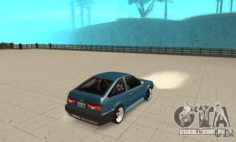 Toyota Sprinter para GTA San Andreas esquerda vista