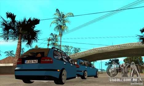 Trailer para o Volvo V40 para GTA San Andreas vista direita