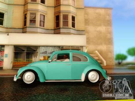 Volkswagen Beetle 1300 para GTA San Andreas vista direita