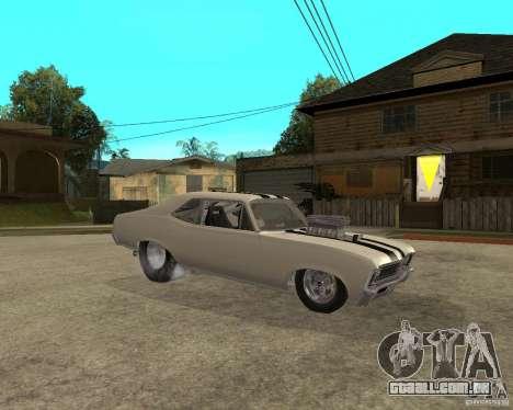 1969 Chevrolet Nova ProStreet Dragger para GTA San Andreas vista direita